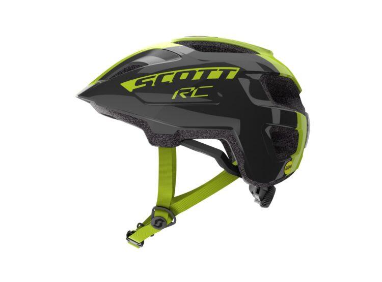 Biciklistička kaciga dječja SCOTT Spunto Junior (CE) black-radium yellow RC-experience-matulji-1